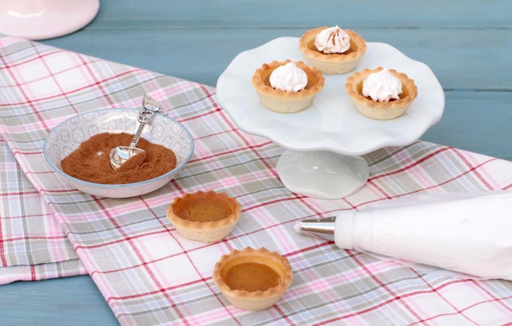 Bite size pumpkin pies