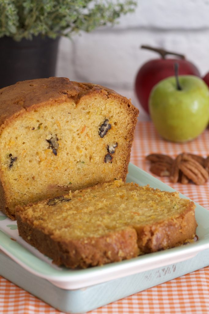 Carrot, Apple and zucchini loaf